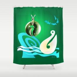 Go Fishing - Hi Ika Shower Curtain