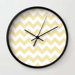 Chevron (Vanilla/White) Wall Clock