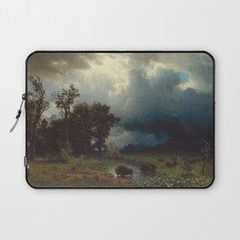 Albert Bierstadt - Buffalo Trail, The Impending Storm (1869) Laptop Sleeve