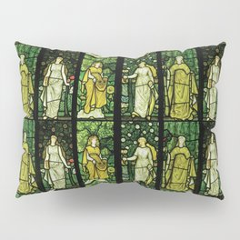 "William Morris ""Four seasons"" (Dining Room at Cragside House, Northumberland, UK) Pillow Sham"