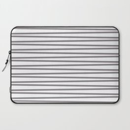 Light gray and white thin horizontal stripes Laptop Sleeve