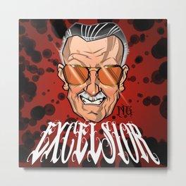 Stan Lee / Excelsior Metal Print