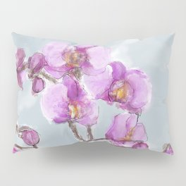 Watercolor Orchids Pillow Sham