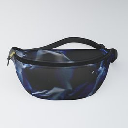 blue and electric texture 4 Fanny Pack