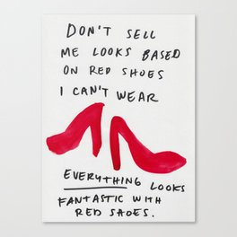 Red shoes goes with everything Canvas Print