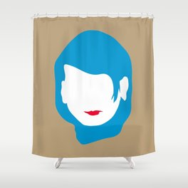 EMPTY FACES #2 Shower Curtain