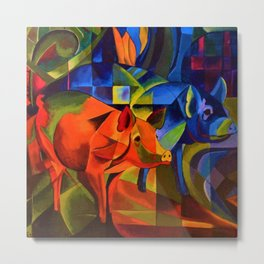 The Pigs by Franz Marc Metal Print