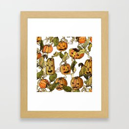 halloween party pumpkin Framed Art Print