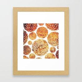 Floral Blaze Framed Art Print