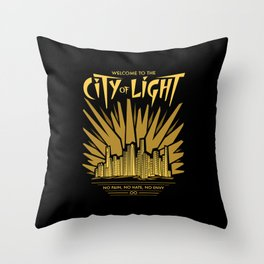 Welcome to the City of Light Throw Pillow