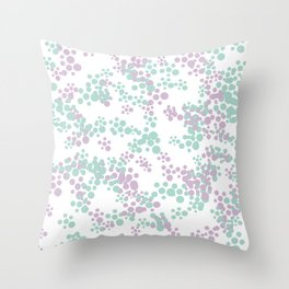 Mint and lavender color splash Throw Pillow