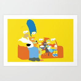 The Simpsons - Family Art Print