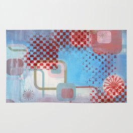 Checked Background Rug