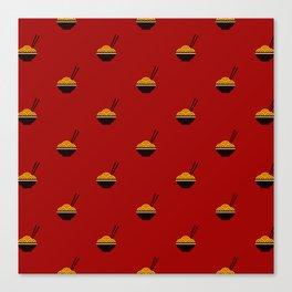 Noodles Pattern Canvas Print