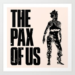 The PAX of Us Black Art Print