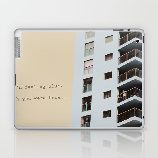 postcard from a tower block... Laptop & iPad Skin