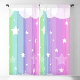 arc en ciel et les étoiles Blackout Curtain