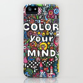 color your mind by Astorg Audrey iPhone Case