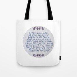 Lorum Ipsum Embroidery Sampler Tote Bag
