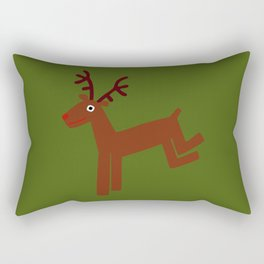 Reindeer-Green Rectangular Pillow