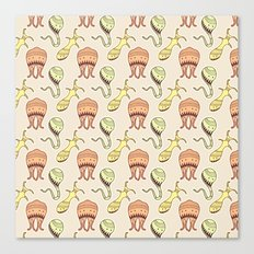 sticker monster pattern 4 Canvas Print