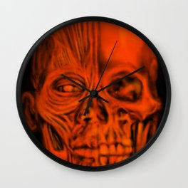Red Ecorche Wall Clock