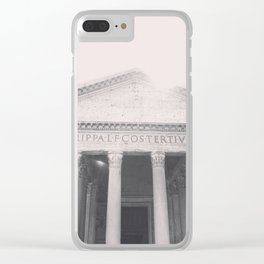 The Pantheon, fine art print, black & white photo, Rome photography, Italy lover, Roman history Clear iPhone Case