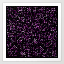Cube Skeletons - Pinks in Space Art Print