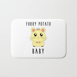Funny Golden Hamster Pet Furry Potato Baby Gift Design Bath Mat