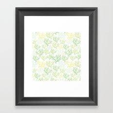 Green Corals Framed Art Print