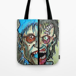 Two Half Zombie Tote Bag