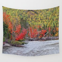 River's Edge in the Fall Wall Tapestry