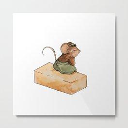 Little Mouse Metal Print