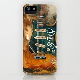 stevie ray vaughan's, electric guitar, gift for guitarists, guitar gift, blues music iPhone Case