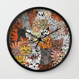 Cats, cats and more cats Wall Clock