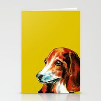 beagle Stationery Cards featuring Beagle by James Peart