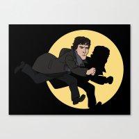 tintin Canvas Prints featuring Sherlock Adventures by jasesa