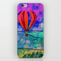 hot air balloons iPhone & iPod Skins featuring Hot Air Balloons #6 by Music of the Heart
