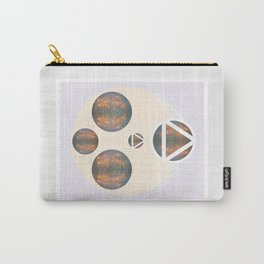Monkey Head: Circle & Triangle Carry-All Pouch