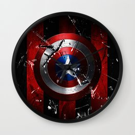 Captain Roger Shield Wall Clock