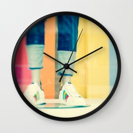 City Shoes Mannequin Photo Wall Clock