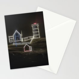 Nubble Lighthouse in December Stationery Cards