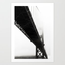 Black Bridge Art Print