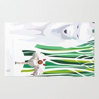princess mononoke Area & Throw Rugs featuring Princess Mononoke by youcoucou