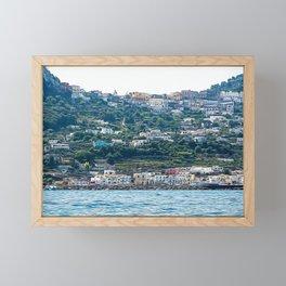 Capri village in summer Framed Mini Art Print