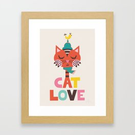 Cat Love Framed Art Print