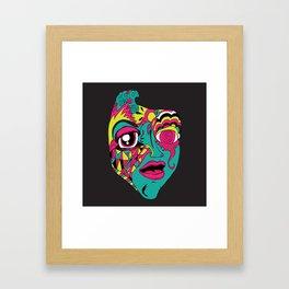 Mohnster_ Self Portrait Framed Art Print