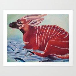 Tragelaphus eurycerus Art Print