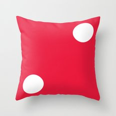 Red Dice 2 Throw Pillow
