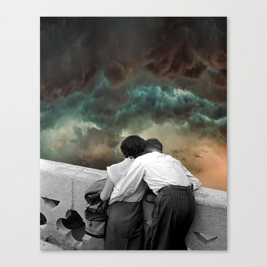 Watching the storms roll in Canvas Print